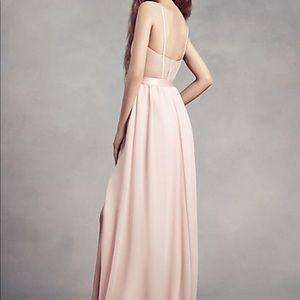 Vera Wang Dresses - White by Vera Wang Midnight Chiffon Bridesmaid